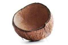 Cracked coconut shell Royalty Free Stock Photos