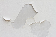 Cracked color caused by moisture. On new painting wall Stock Image