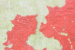 Cracked color caused by moisture Royalty Free Stock Images