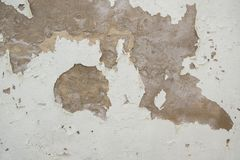 Cracked color surface on old wall.  Royalty Free Stock Images