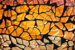 Cracked Colored Glass Texture Stock Photo