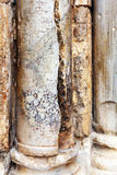 Cracked Column at Entrance of Holy Sepulcher Cathedral in Jerusa Royalty Free Stock Photos