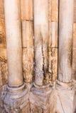 Cracked Column at Holy Sepulcher Church. Cracked Marble Column at the entrance of the Holy Sepulcher Church in Jerusalem, Israel royalty free stock photo