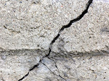 Cracked concrete. Monolith Royalty Free Stock Photography