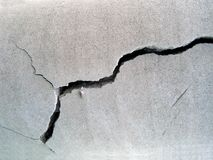 Cracked concrete Stock Photography