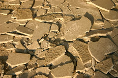 Cracked concrete.  stock photo