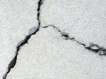 Cracked Concrete. An aged cracked patch of concrete royalty free stock photo