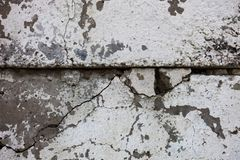 Cracked concrete blocks Royalty Free Stock Photos
