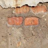 Cracked concrete  brick wall. Stock Photos