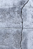 Cracked concrete brick wall Royalty Free Stock Photos