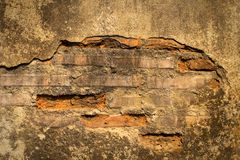 Cracked concrete brick wall background Royalty Free Stock Images