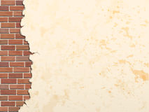 Cracked concrete brick wall background Stock Photography