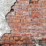Cracked concrete brick wall. Cracked concrete old brick wall background stock images