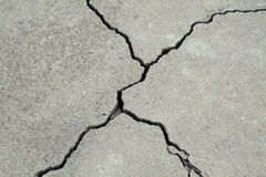 Cracked concrete cement foundation royalty free stock image