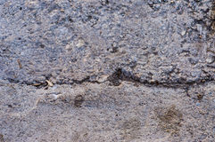 Cracked Concrete Floor Stock Photo