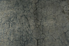 Cracked concrete flooring from skate park Royalty Free Stock Photo