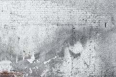Cracked concrete old brick wall background vector illustration