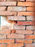 Cracked concrete old brick wall background Stock Photos