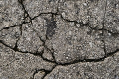 Cracked Concrete Pavement Royalty Free Stock Images