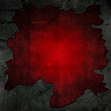 Cracked concrete and red grunge background Stock Photo