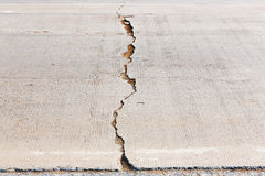 Cracked concrete road Stock Image