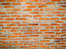 Cracked concrete showing aged brick wall Stock Photography