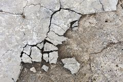 Concrete and stone texture. Cracked concrete and stone texture royalty free stock photography