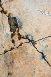 Cracked concrete surface Stock Image