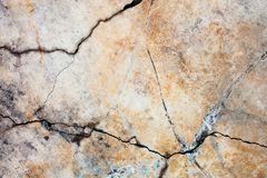 Cracked concrete surface Royalty Free Stock Image