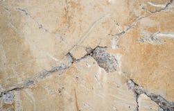 Cracked concrete surface Stock Photos
