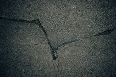 Cracked concrete. Texture closeup background Royalty Free Stock Photo