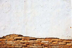 Cracked concrete vintage brick wall Stock Images