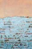 Cracked concrete vintage brick wall background Stock Images