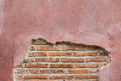 Cracked concrete vintage brick wall background.with space for text Royalty Free Stock Photography