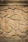 Cracked concrete vintage brick wall background Royalty Free Stock Photography