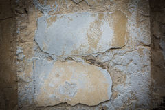 Cracked concrete vintage brick wall background Stock Photo