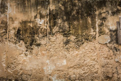 Cracked concrete vintage brick wall background Royalty Free Stock Images