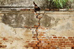 Cracked concrete vintage wall background,old wall. Stock Image