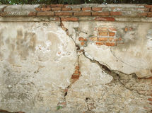 Cracked concrete vintage wall background,old wall. Royalty Free Stock Images