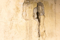 Cracked concrete vintage wall background, old wall Royalty Free Stock Photos