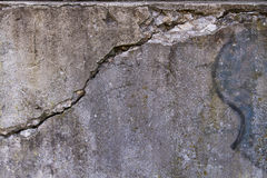 Cracked concrete wall. Background Royalty Free Stock Photos