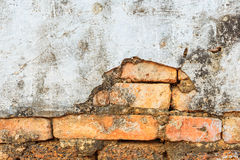 Cracked concrete wall background stock photography
