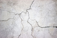 Cracked concrete wall covered with gray cement texture as background for design. Cracked concrete wall covered with gray cement surface as background royalty free stock photos