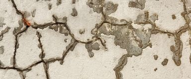 Cracked Concrete Wall Detail Background Royalty Free Stock Images