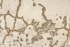 Cracked Concrete Wall Detail Background Stock Photo