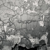 Cracked concrete wall. Grey colour Royalty Free Stock Images
