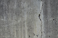 Cracked concrete wall stock image