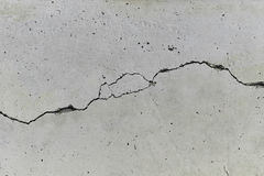 Cracked concrete wall Stock Photography