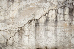Cracked concrete wall texture background Stock Images