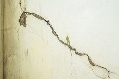 Cracked concrete wall texture concrete. In building Stock Images